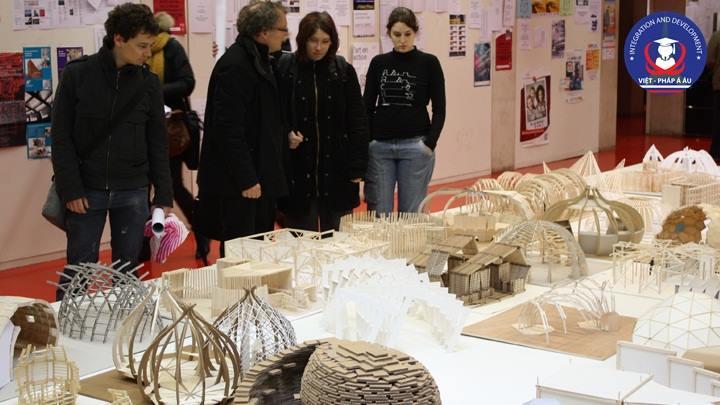Triển lãm các mô hình kiến trúc của sinh viên tại Tocqueville